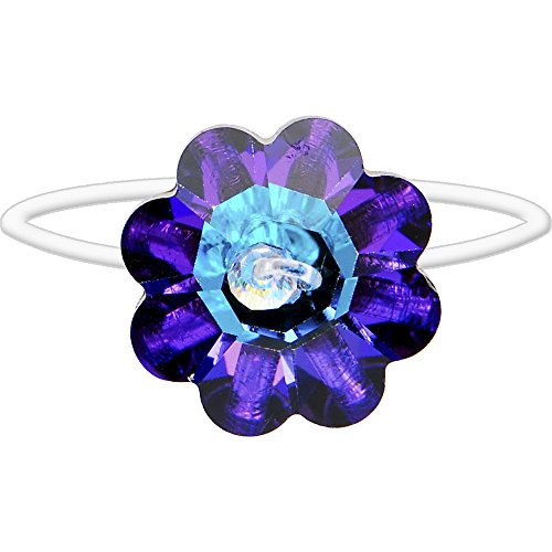 Body Candy Bouquet Chic Flower Illusion Stretch Toe Ring Created with Swarovski Crystals