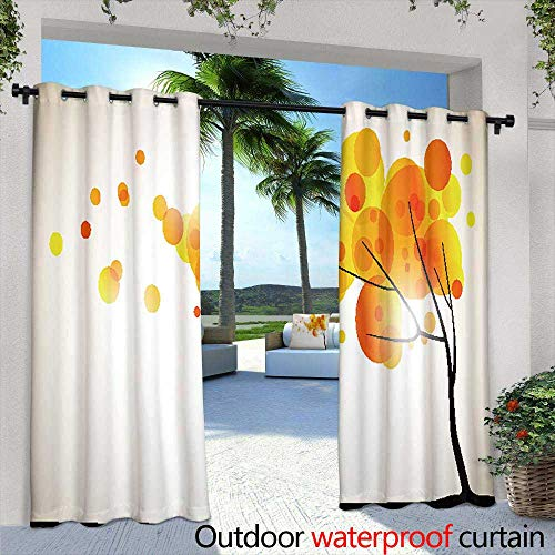 Outdoor- Free Standing Outdoor Privacy Curtain,Aurora Above Fjords in Norway,W84 x L96 for Patio Light Block Heat Out Water Proof -