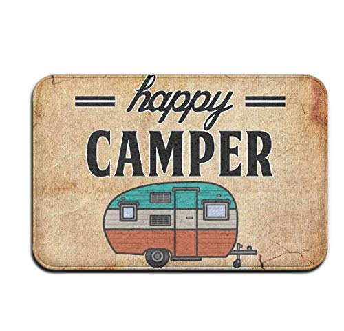 Happy Camper Camping Door Mat Entrance Mat Floor