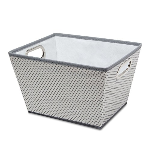 Tapered Storage Basket - Delta Children Rectangle Tapered Tote, Grey