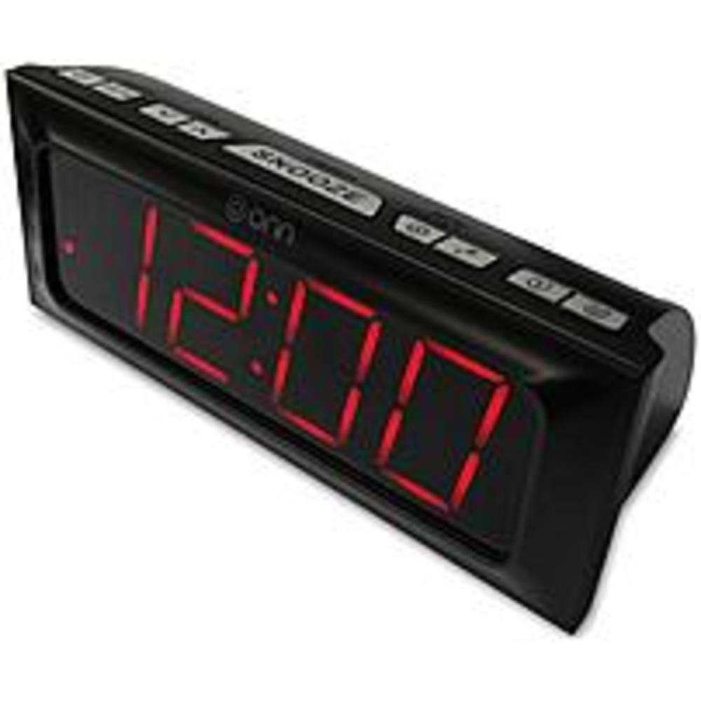 Amazon onn digital amfm alarm clock radio large 18 inch red amazon onn digital amfm alarm clock radio large 18 inch red led display home audio theater fandeluxe Gallery