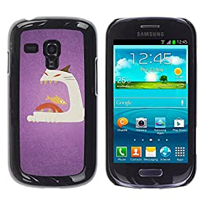 Vortex Accessory Carcasa Funda PARA SAMSUNG GALAXY S3 MINI i8190 ( NOT FOR S3 ) For - Cat Fish Big Mouth Art Painting