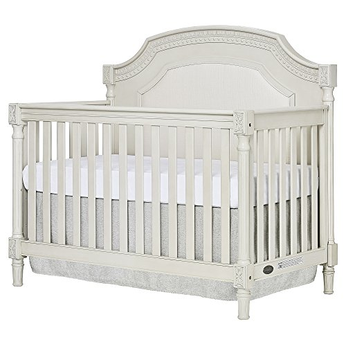 Evolur Julienne 5 in 1 Convertible Crib in Cloud - Antique White Crib