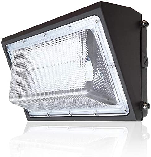 DE-Power 120W LED Wall Pack Light Fixture with Dusk-to-Dawn Photocell,HPS HID Replacement, 5000K,IP65 Waterproof, Outdoor Industrial Commercial Area Light