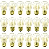 Newhouse Lighting 18 Pack 11 Watt S14 Incandescent String Light Bulbs For E26 Base With Outdoor Weatherproof Technology (3 Free Bulbs Included)