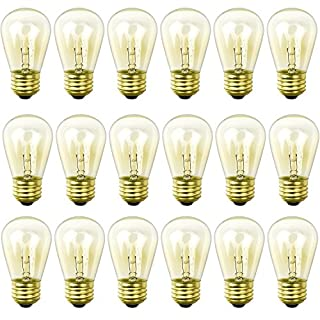 Newhouse Lighting S14INC18 Outdoor Weatherproof S14 Incandescent Replacement String Light Bulbs | Standard Base | 18-Pack, Clear, 18 Piece