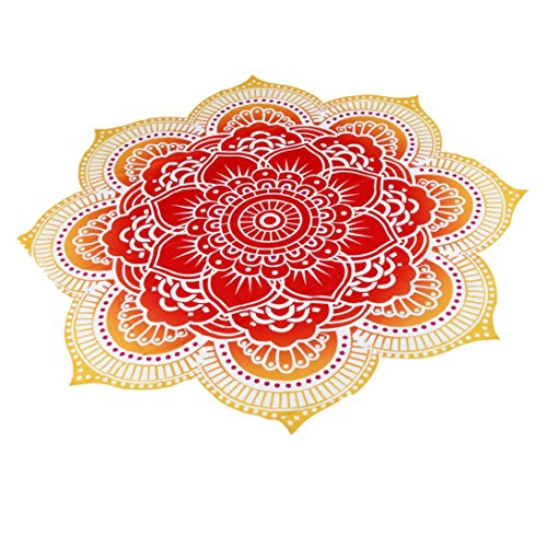 snniku-round-beachtowel-home-shower-towel-blanket-table-cloth-yoga-mat-red
