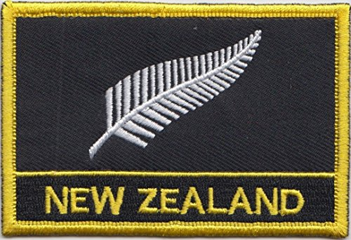 Rugby Badge (New Zealand Silver Fern Flag Embroidered Blazer Badge Patch)