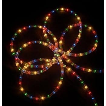 Amazon.com: Christmas Lighting LED Rope Light 150ft Multi ...