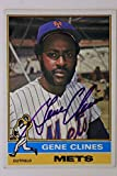 GENE CLINES New York Mets Autographed 1976 Topps #417 Signed Card 16F