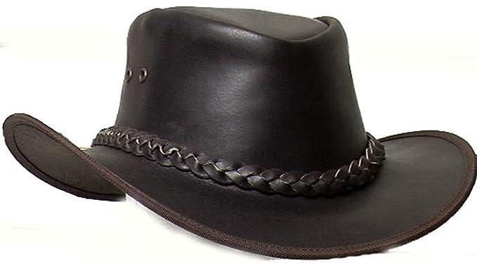 417badb3b9b Genuine Cowhide Leather Western Cowboy Hat Dark Brown   2692 USD (Small)