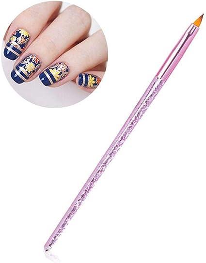 Brocha para uñas profesional, de acrílico, diseño creativo de uñas ...