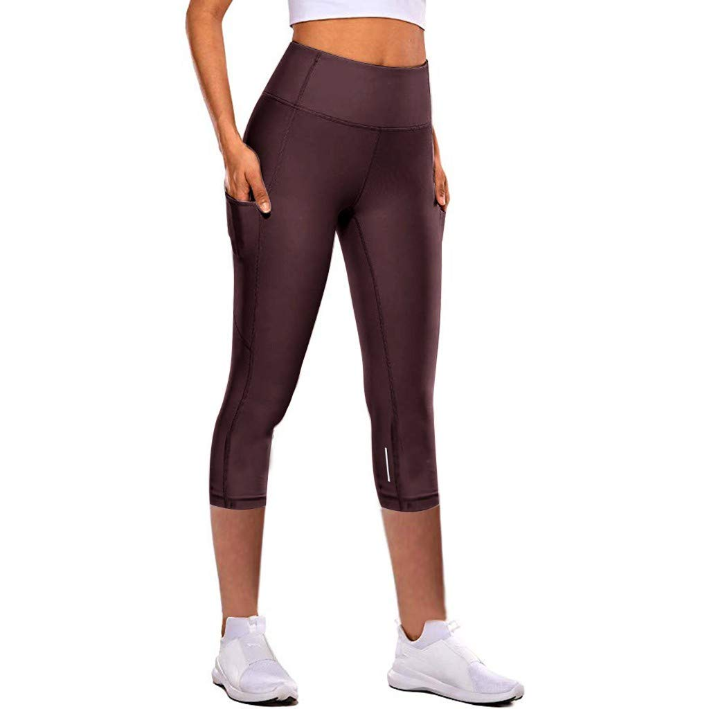 Fashion Women Hole Solid Color Leggings SKinny Slim Tightening Sports Yoga Pants