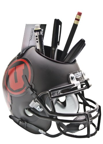 Schutt NCAA Utah Utes Helmet Desk Caddy, Matte Black/Red