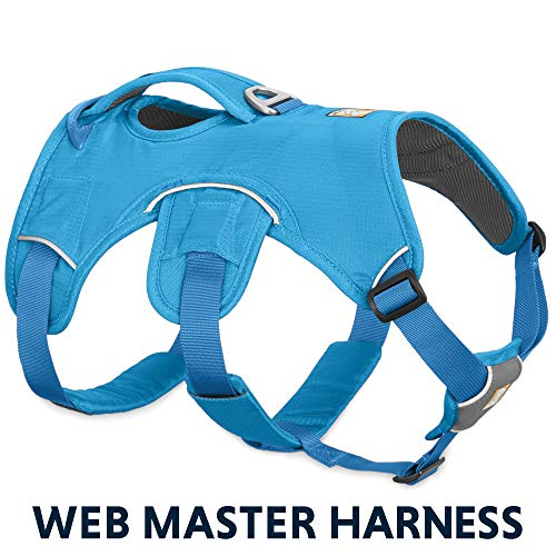 RUFFWEAR - Web Master, Multi-Use Support Dog Harness, Hiking and Trail Running, Service and Working, Everyday Wear, Blue Dusk, X-Small ()