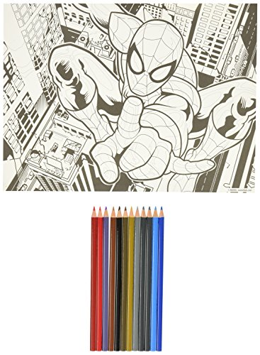 Paint Works 73-91505 Spider-Man Pencil by Number Kit