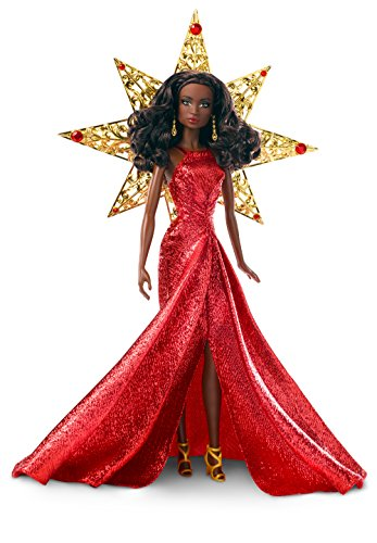 Barbie 2017 Holiday Nikki Black Hair with Red Dress - Barbie Girl Theme