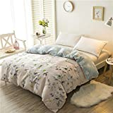 GUANXINXINlove Cotton Quilt Cover,Quilt Cover Single Student [Summer] [Single or Double] Soft Four Seasons-L 180x220cm(71x87inch)