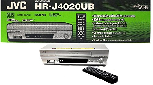 The New JVC HR-J4020UB VHS 4 Head VCR Player M-PAL NTS hrj4020ub S-VHS Silver