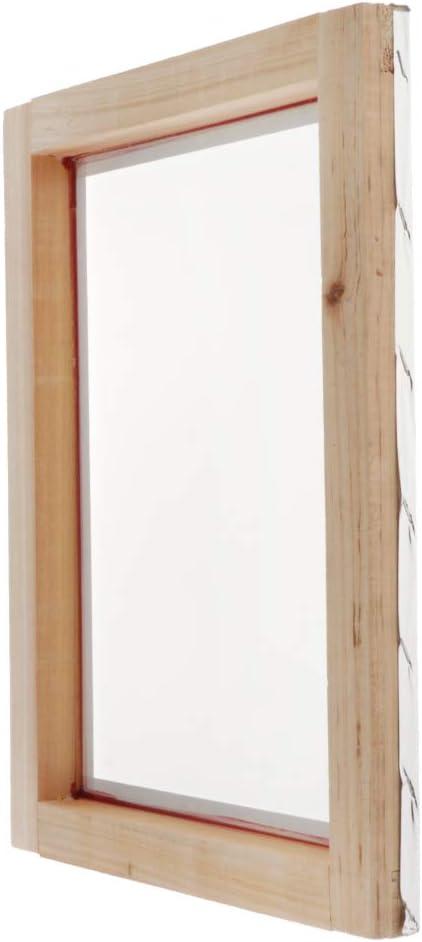 Milageto Marco De Impresión De Pantalla De Malla De Madera Para Prendas/Accesorios De Impresión De Panel De Plástico - 32T, 20x30cm: Amazon.es: Hogar