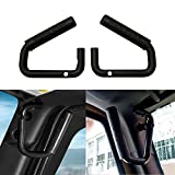 Allinoneparts Black Grab Bar Front Grab Handle for Jeep JK JKU Wrangler Unlimited Accessories 2 & 4 Door 2007-2018