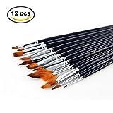 12pcs Paint Brush Set for Art Painting /Acrylic Watercolor Oil Gouache & ...