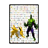 Cozy Pokemon Eevee VS Hulk Blanket 58 by 80-Inch Bedding Blanket Baby Blanket Travel Blanket