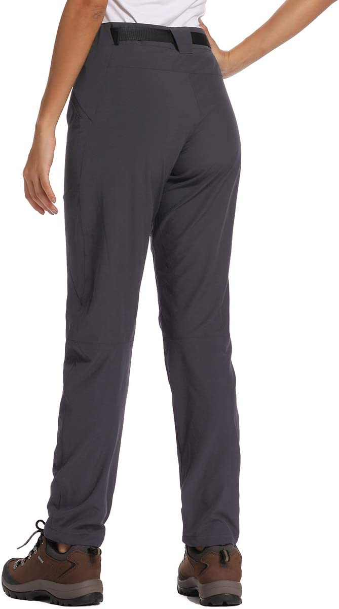 Womens Hiking Pants UPF 40 Quick Dry Stretch Lightweight Cooling Loose fit Pants with Zipper Pockets
