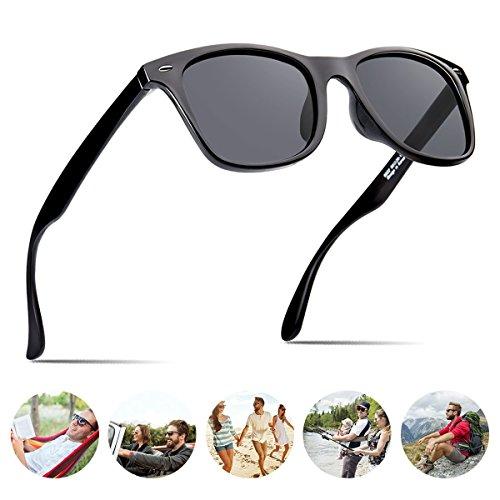Polarized Sunglasses For Men Wayfarer Black Frame Shades Classic Sun Glasses