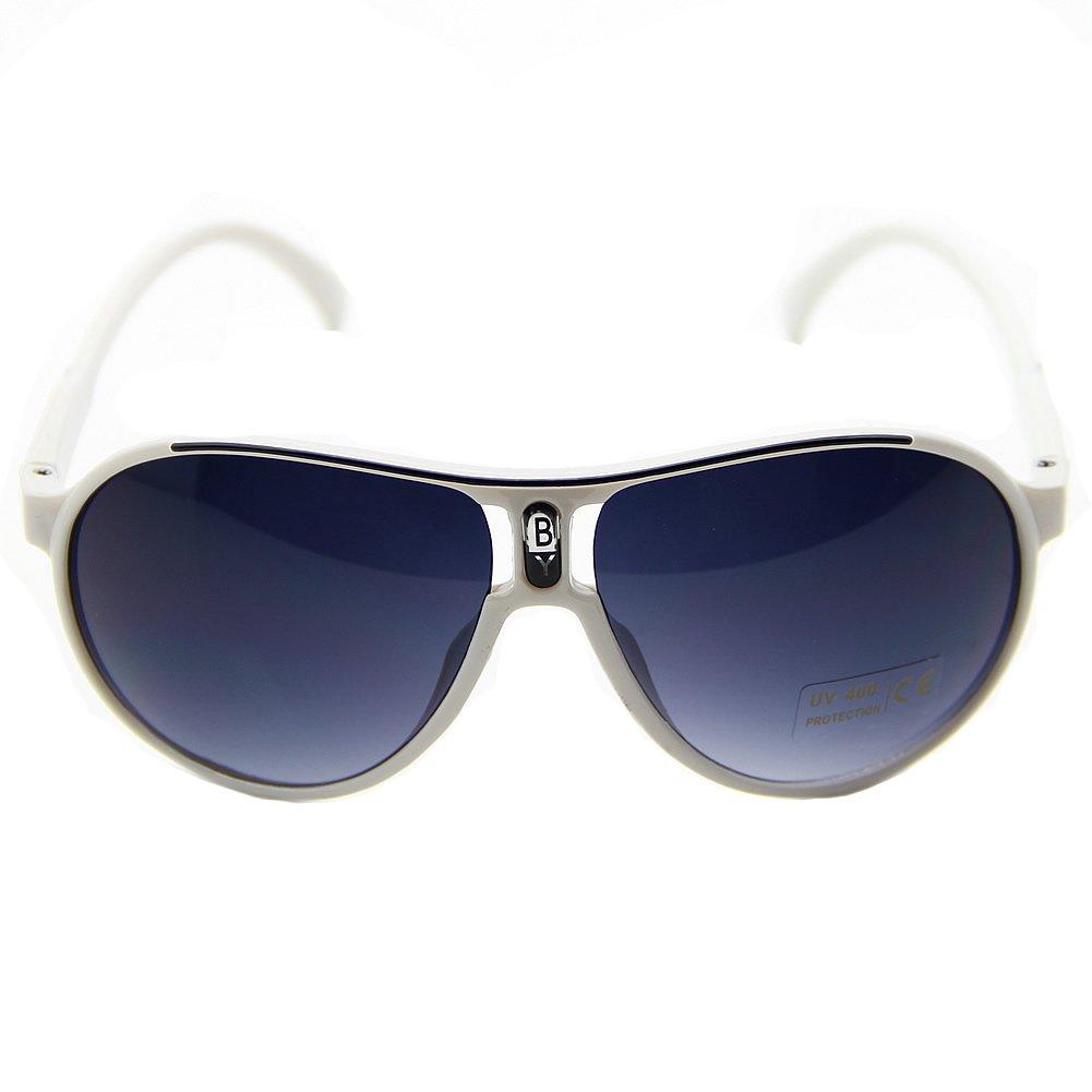 Estone Fashion Cute Children Girl Boy Baby Kids AC Lens PC Frame UV 400 Sunglasses New (White)