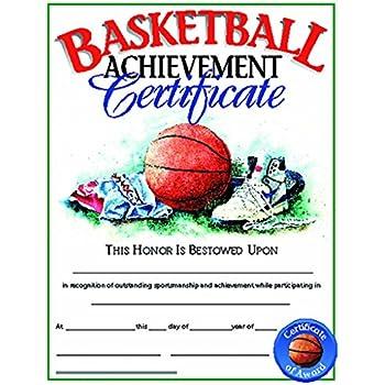 amazoncom basketball certificate glossy paper