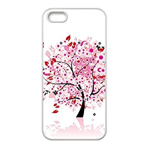 The Love Tree With Pink Flowers Hight Quality Plastic Case for Iphone 5s