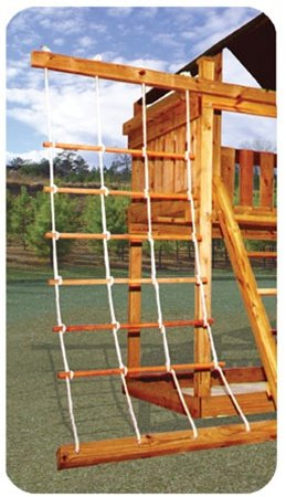 36'' Wide Rope Ladder w/ round dowels
