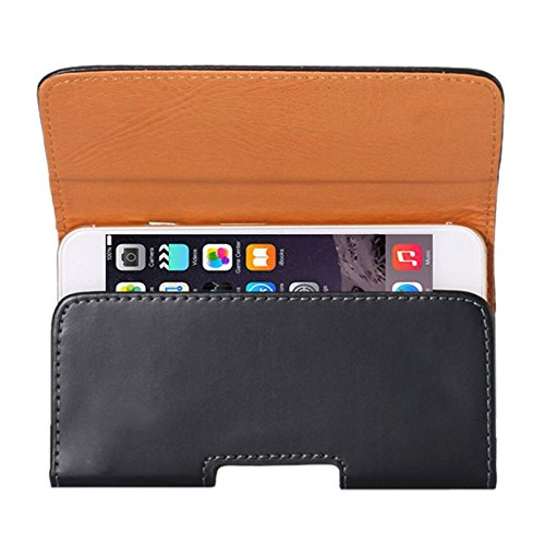 DFV mobile - Case belt clip synthetic leather horizontal smooth for =>      APPLE IPHONE 5 > Black