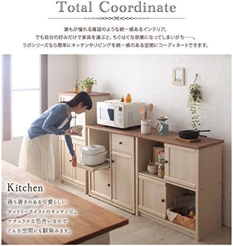 MOCA-TU コンパクト食器棚 ナチュラル カントリー調 幅60 TU-040500355