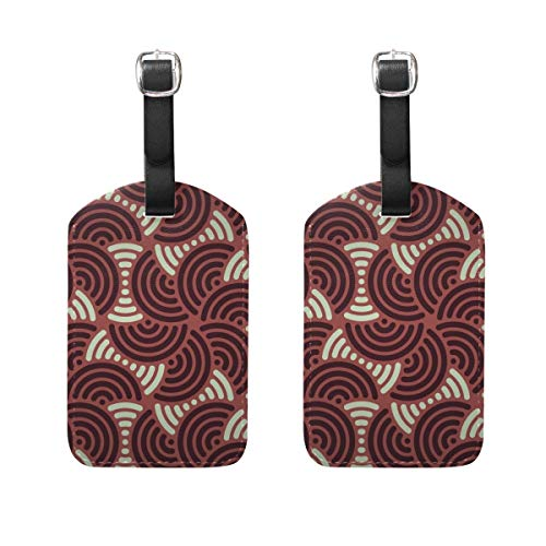 Luggage Tags Japanese Oriental Pattern Womens Bag Suitcase Tags Holder traveling accessories Set of 2