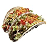 Premium Taco Holders, Restaurant Style Mexican Food Stainless Steel Rack. Stand Holds Hard or Soft Shells. Fiesta Taco Tuesday! (Pack of 2) (Double) offers