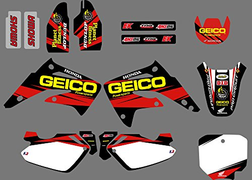 0082 3M Customized Motorcross Motorcycle Decals Stickers Graphics Kit for Honda CR85R CR85 LIQUID COOLED 2 STROKES 2003 04 05 06 07 08 09 10 11 2012 -