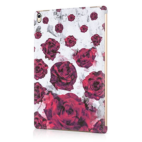 Purple Rose Blossoms Pattern Durable Hard Plastic Protective Tablet Case Cover For Apple iPad Pro 9.7 (Purple Rose Florist)