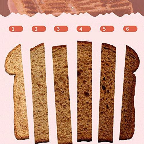 Grille-Pain 2 Fentes, 6 Niveaux Réglables, de Fonctions de Grille-pain,Annuler,Décongeler,Réchauffer,800W Rapide Fonction