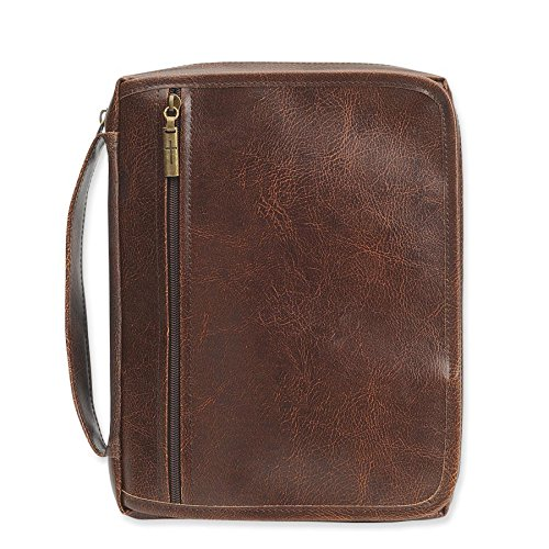 - Enesco Faith & Gregg Gift We've Got You Covered Brown Faux Leather Large Bible Cover: 6.5 inches""