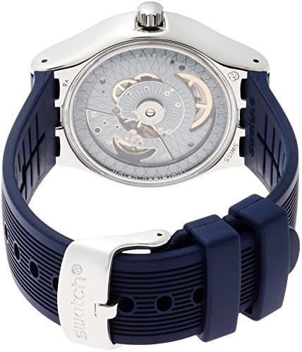 Swatch Homme Digital Automatique Montre avec Bracelet en Silicone YIS409