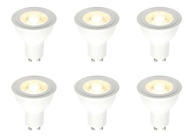 X Gu10 Led Saxby Bulb Light Dimmable White Warm 6 Cob 3000k 5 7w f7yb6g