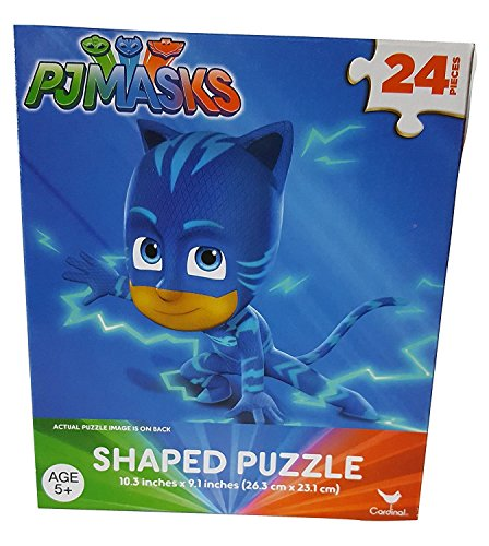 Kids Hot SELLER 24 Piece PJ Masks Shaped Jigsaw Puzzle (Catboy) Bundle of 2