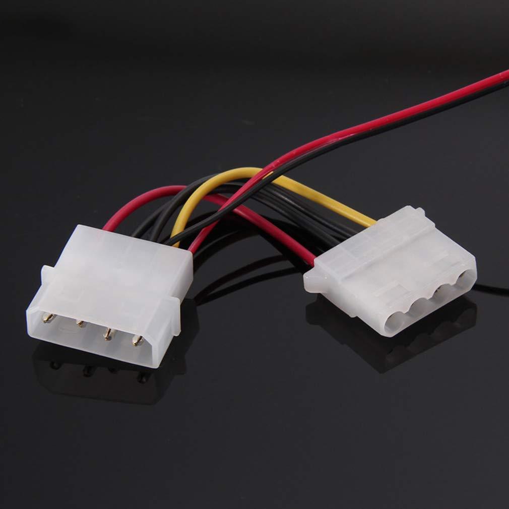 Hemore Quad 4 LED luz 120 mm PC Ordenador Caso refrigeraci/ón Ventilador Mod f/ácil instalaci/ón Ventilador 12 V Oficina Sistema de refrigeraci/ón de Trabajo