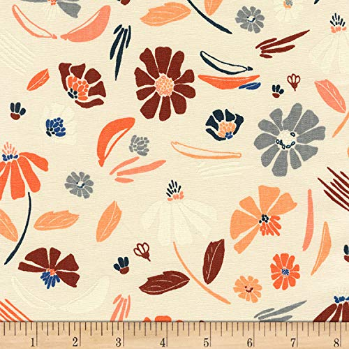 Robert Kaufman Forage Linen Blend Fabric, Champagne, Fabric By The Yard