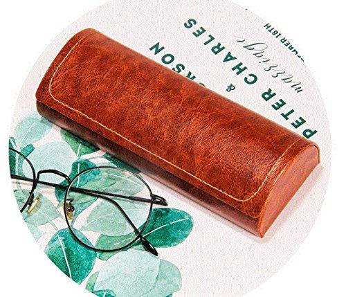 Marron Peino Portable Homme et Femme Lunettes Box Coque Rigide Lunettes pour ext/érieur Voyage
