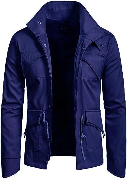 Chaqueta de Hombre Otoño Invierno Trench Abrigo Overcoat ...