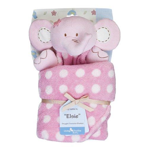 Living Textiles Baby Snuggle Character Blanket - Elsie Elephant (Boa Blanket Elephant)