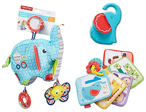 Fisher-Price Linkable Pal Elephant Activity and 1-to-5 Learning Cards Bundle